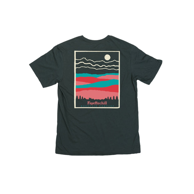 Paper Mountain Unisex T-Shirt Fayettechill Clothing Company Carbon XS