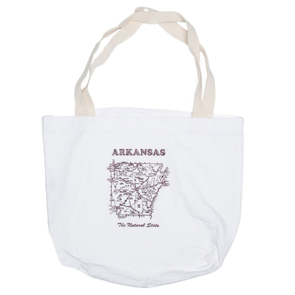 Arkansas Map Tote Bag