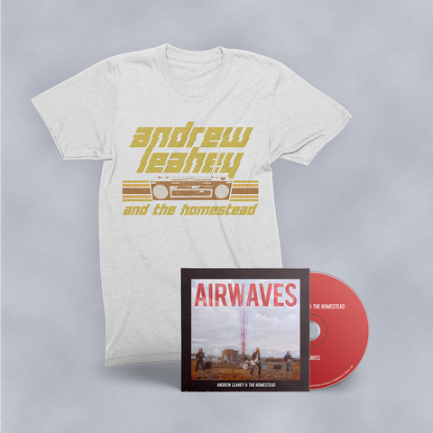 Boombox T-Shirt & Airwaves CD Bundle