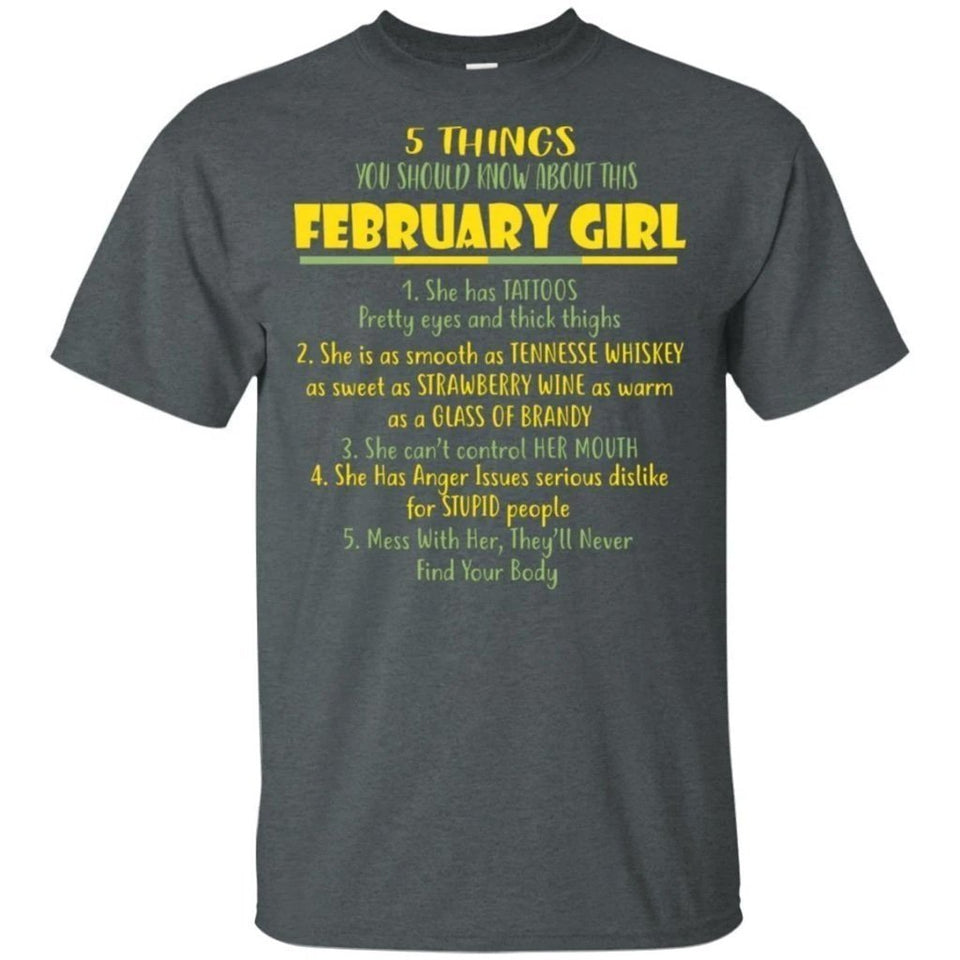 5 Things You Should Know About February Girl Birthday T-Shirt Gift Ideas-Bounce Tee