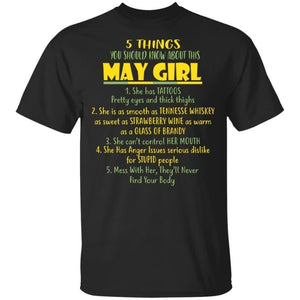 5 Things You Should Know About May Girl Birthday T-Shirt Gift Ideas-Bounce Tee
