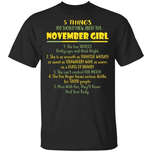 5 Things You Should Know About November Girl Birthday T-Shirt Gift Ideas-Bounce Tee