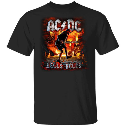 ACDC Hell's Bells T-shirt Angus Young Tee MT04-Bounce Tee