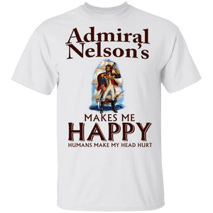Admiral Nelson Makes Me Happy T-shirt Rum Tee VA12-Bounce Tee