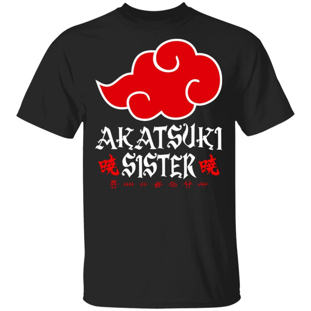Akatsuki Sister Shirt Naruto Red Cloud Family Tee-Bounce Tee