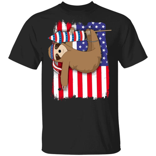 American Sloth 4th Of July T-shirt Patriot Tee MT05-Bounce Tee