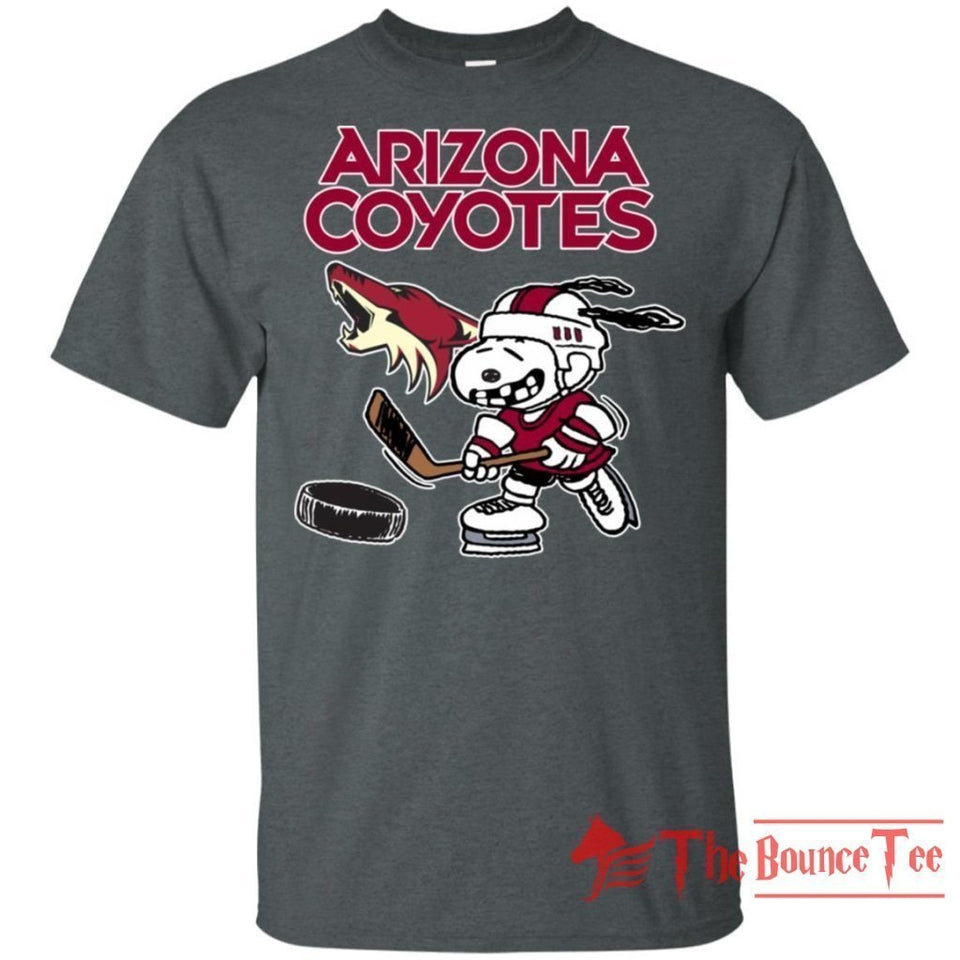 Arizona Coyotes Snoopy Hockey T-shirt Funny Fan Men Women-Bounce Tee