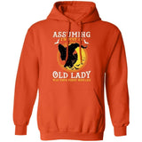Assuming I'm Just An Old Lady Was Your First Mistake Witch Hoodie Halloween VA09-Bounce Tee