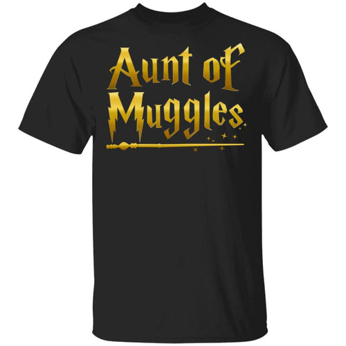Aunt Of Muggles T-shirt Harry Potter Aunt Tee VA05-Bounce Tee