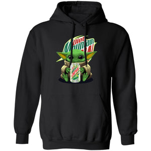 Baby Yoda Hoodie Baby Yoda Hold Diet Mountain Dew Hoodie MT12-Bounce Tee