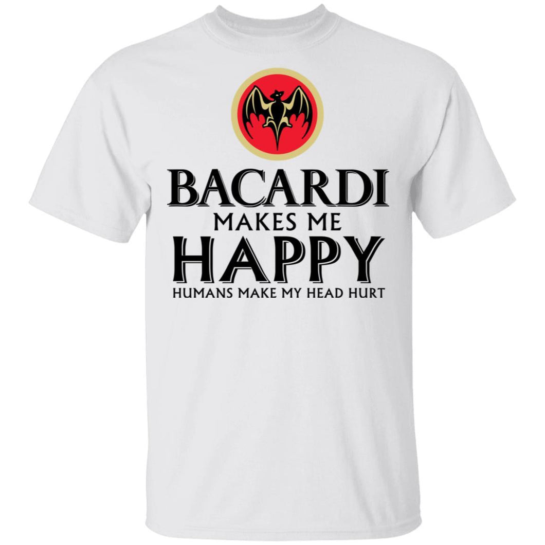 Bacardi Makes Me Happy T-shirt Rum Tee VA12-Bounce Tee
