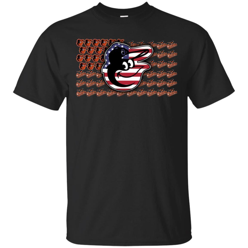Baltimore Orioles American Flag T-Shirt Men Women Fan-Thebouncetee.com
