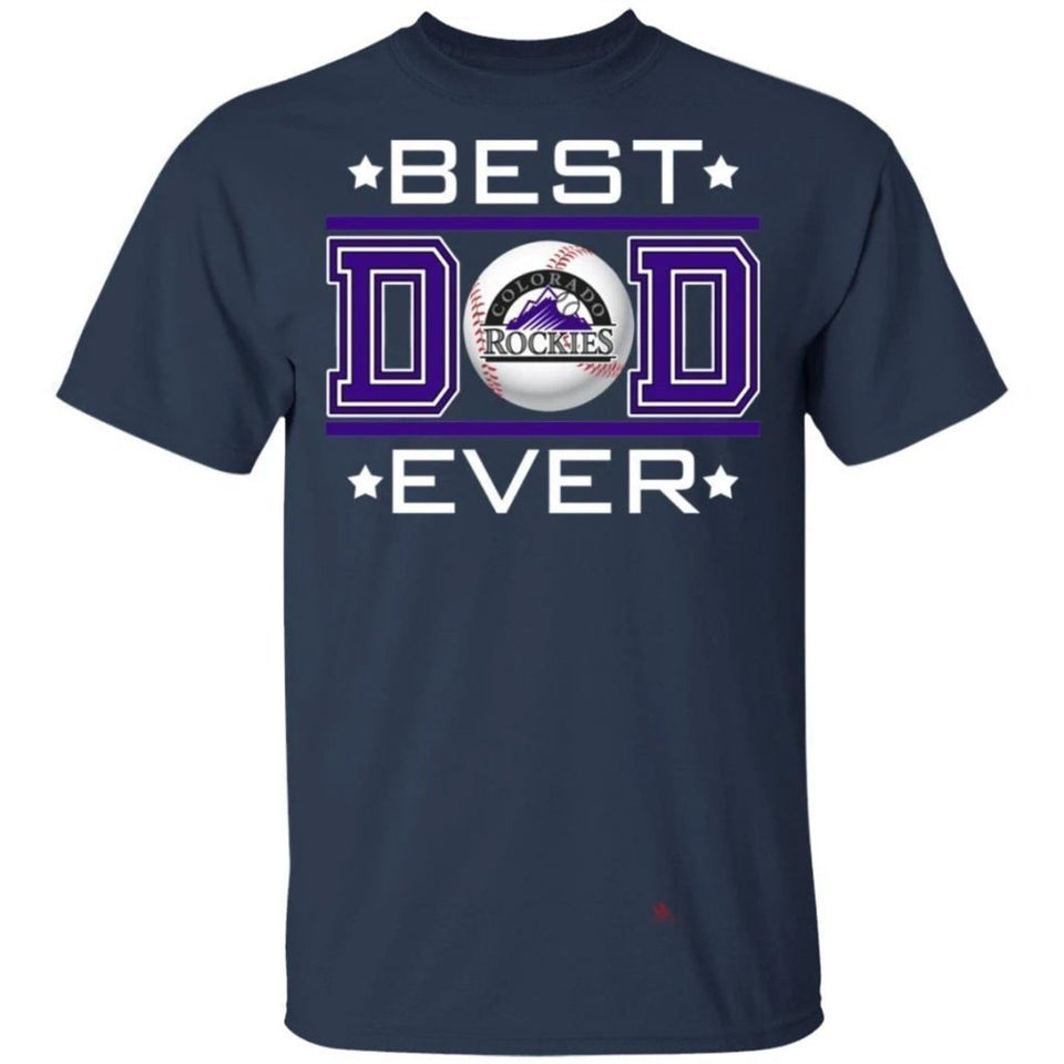 Best Dad Ever Colorado Rockies T-Shirt For Dad-Bounce Tee