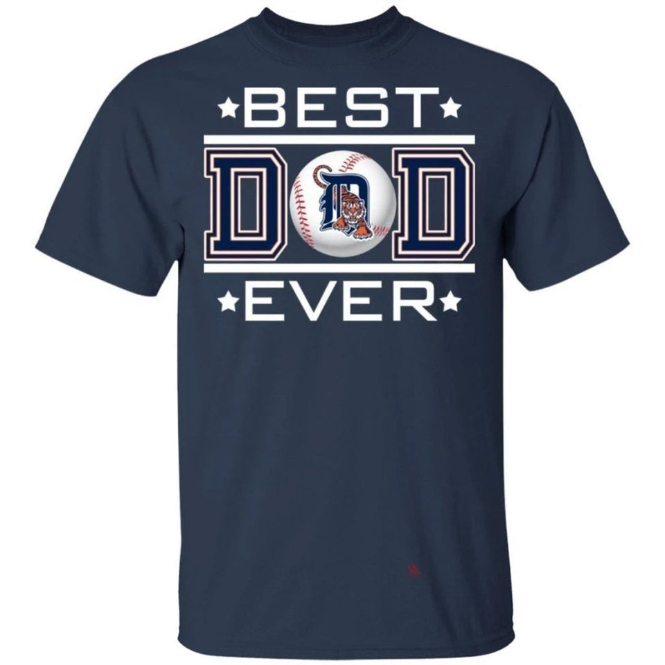 Best Dad Ever Detroit Tigers T-Shirt For Dad-Bounce Tee