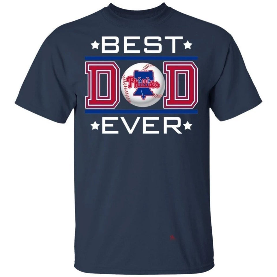 Best Dad Ever Philadelphia Phillies T-Shirt For Dad-Bounce Tee