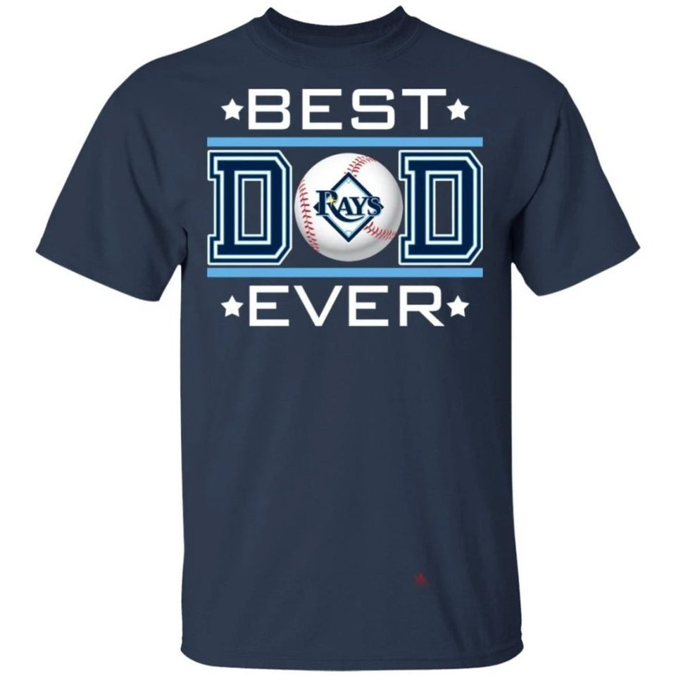 Best Dad Ever Tampa Bay Rays T-Shirt For Dad-Bounce Tee
