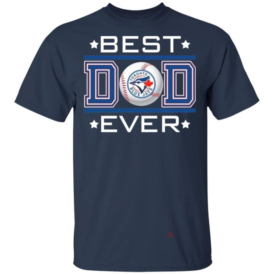 Best Dad Ever Toronto Blue Jays T-Shirt For Dad-Bounce Tee