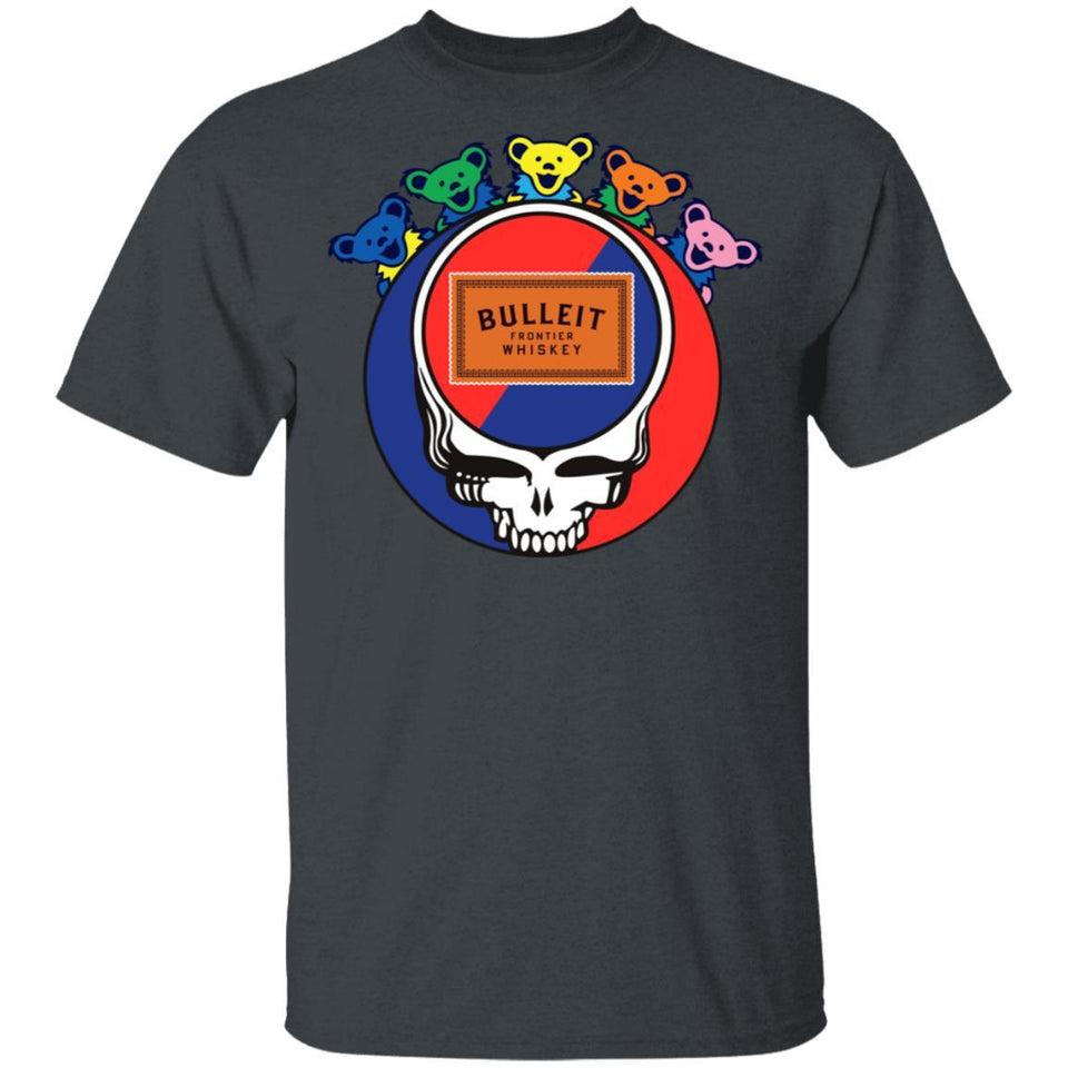 Bulleit In Grateful Dead Head T-shirt Whisky Tee PT03-Bounce Tee