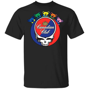 Canadian Club In Grateful Dead Head T-shirt Whisky Tee PT03-Bounce Tee