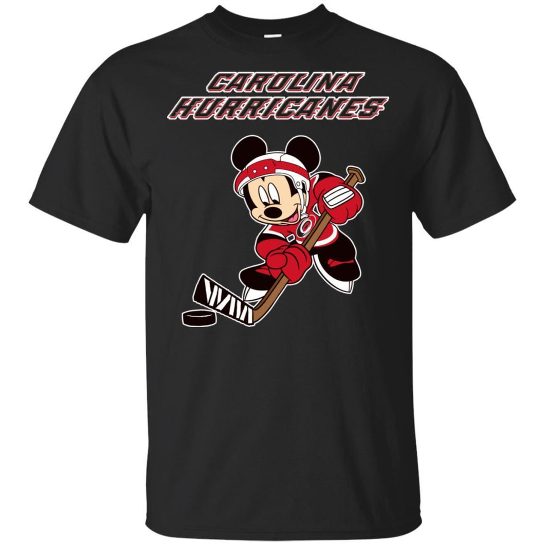 Carolina Hurricanes Mickey Play Hockey T-shirt Men Women Fan HA05-Thebouncetee.com