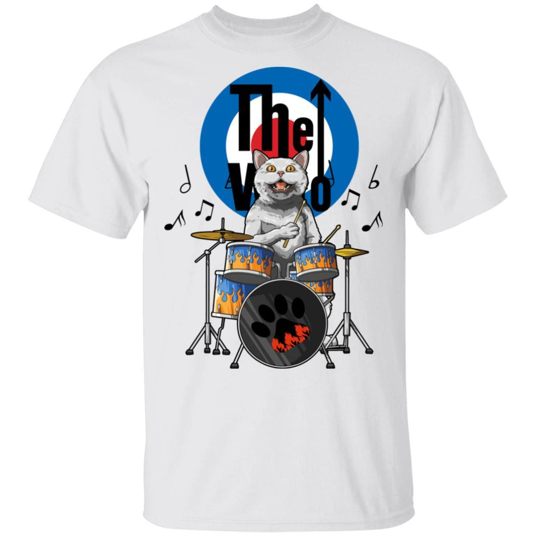Cat Drummer The Who T-shirt Rock Tee MT04-Bounce Tee