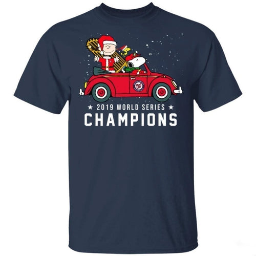 Charlie Brown Snoopy Washington Nationals Shirt Trophy Home Christmas Cool Gift-Bounce Tee