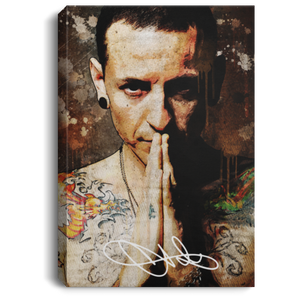 Chester Bennington Signature Art Canvas Poster VA04-Bounce Tee