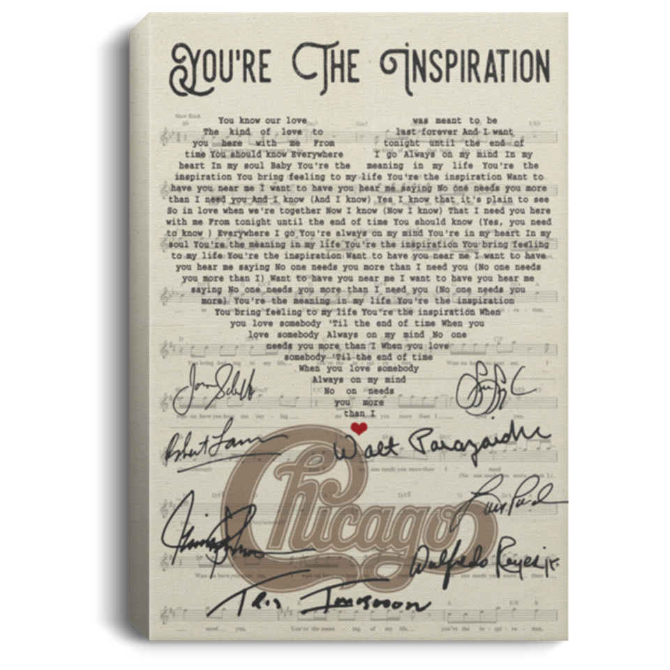 Chicago You're The Inspiration Lyrics Canvas Poster Music Poster VA06-Bounce Tee