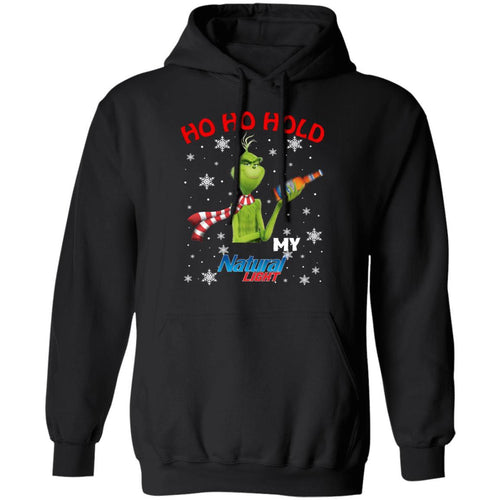 Christmas Hoodie Grinch Ho Ho Hold My Natural Light Xmas Beer Hoodie MT11-Bounce Tee