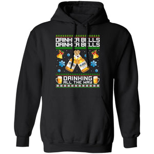 Drinker Bells Drinking All The Way Modelo Especial Hoodie Beer For Christmas Funny Xmas Gift Mt11