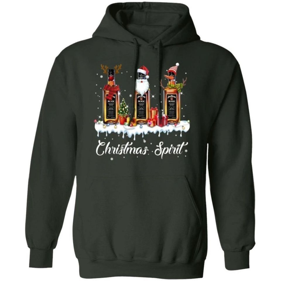 Christmas Spirit Jim Beam Hoodie Whisky In The Snow Hoodie Funny Xmas Gift VA10-Bounce Tee