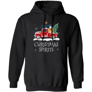 Christmas Spirits Canadian Mist Hoodie Whisky On Red Truck Xmas Gift VA10-Bounce Tee