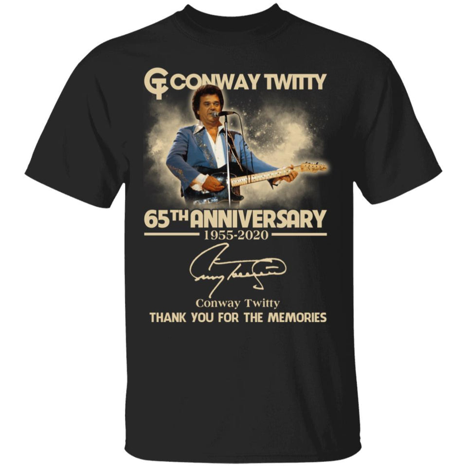 Conway Twitty T-shirt 65th Anniversary 1955 - 2020 Tee MT03-Bounce Tee