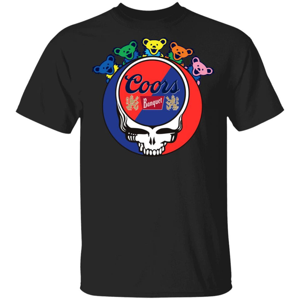 Coors Banquet In Grateful Dead Head T-shirt Grateful Beer Tee PT03-Bounce Tee