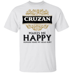 Cruzan Makes Me Happy T-shirt Rum Tee VA12-Bounce Tee