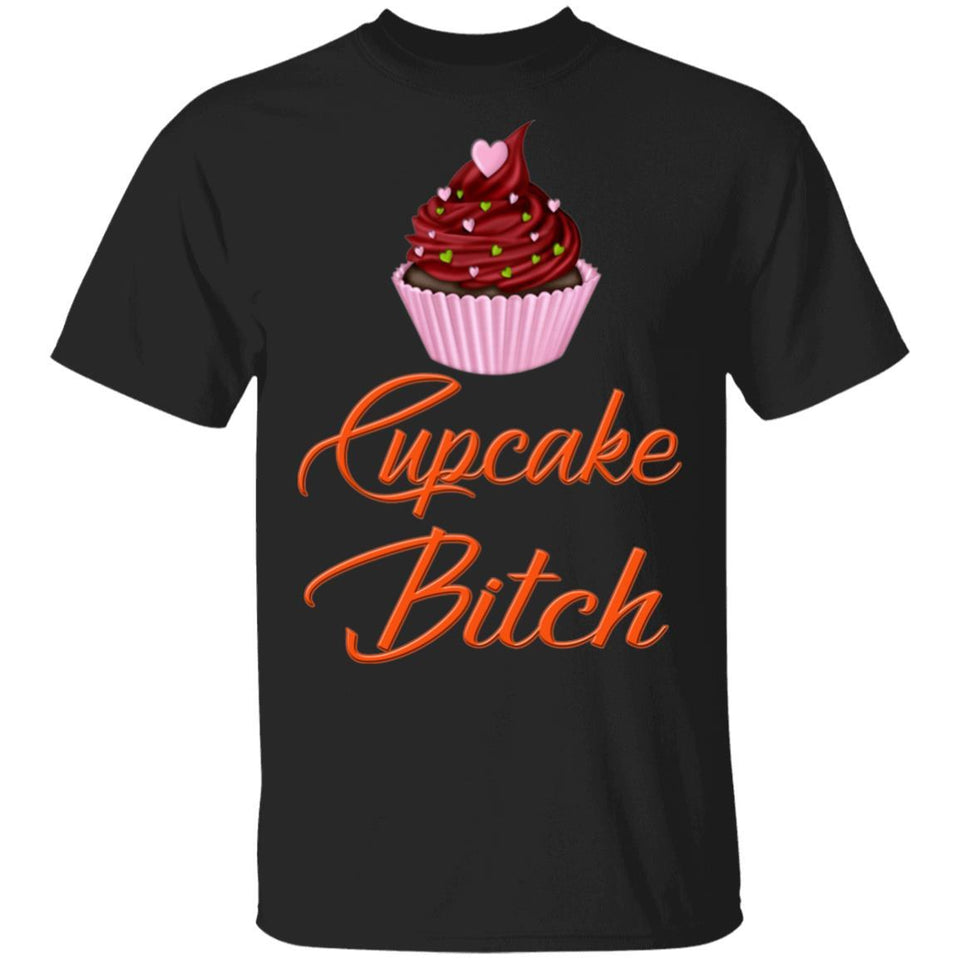 Cupcake Bitch T-shirt Fast Food Addict Tee VA01-Bounce Tee