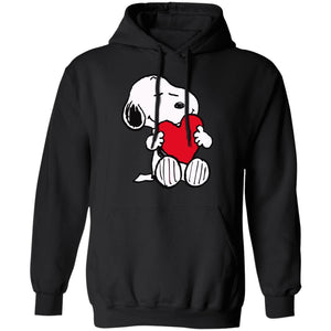 Cute Snoopy Hug Heart Hoodie Shirt Love Gift Idea HA12-Bounce Tee