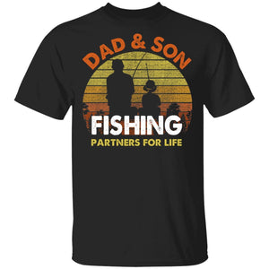 Dad And Son Fishing Partners For Life T-Shirt Fishing Lover-Bounce Tee