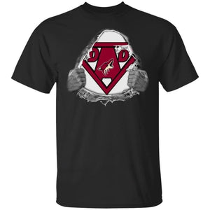 Dad Super Fan Arizona Coyotes Hockey T-Shirt Gift For Dad-Bounce Tee