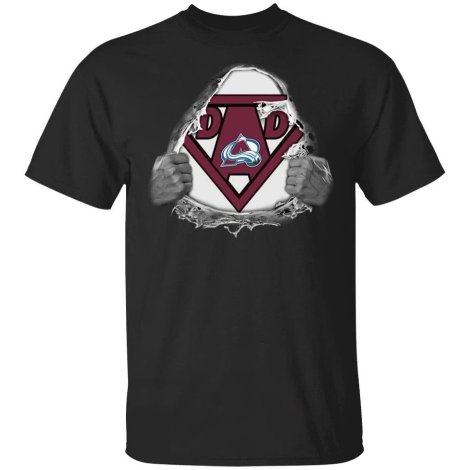 Dad Super Fan Colorado Avalanche Hockey T-Shirt Gift For Dad-Bounce Tee