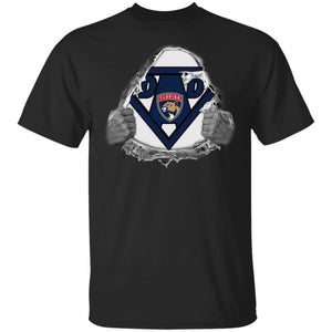 Dad Super Fan Florida Panthers Hockey T-Shirt Gift For Dad-Bounce Tee