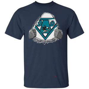 Dad Super Fan San Jose Sharks Hockey T-Shirt Gift For Dad-Bounce Tee