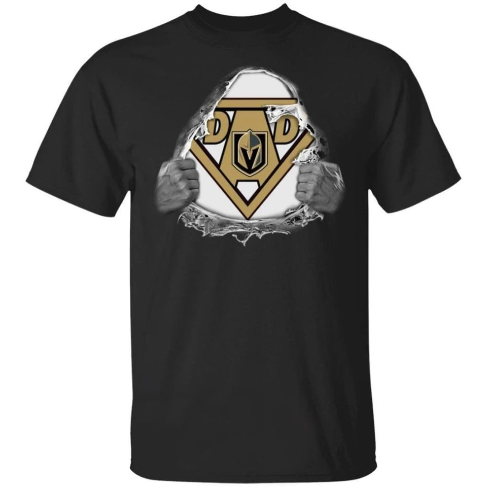 Dad Super Fan Vegas Golden Knights Hockey T-Shirt Gift For Dad-Bounce Tee