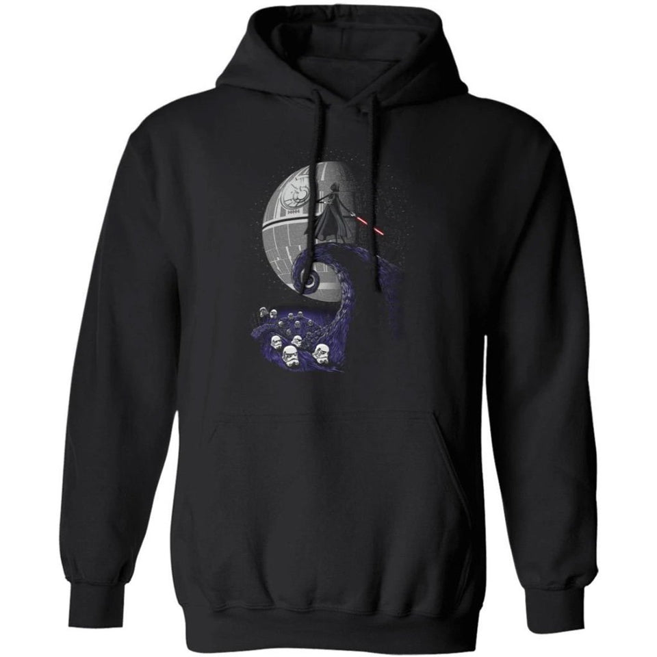 Darth Vader On Death Star Spiral Hill Hoodie Cool Halloween Costume HA09-Bounce Tee