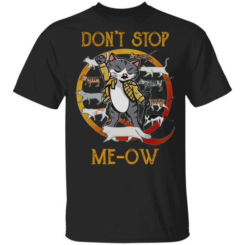 Don't Stop Meow T-shirt Freddie Mercury Cat Tee MT04-Bounce Tee