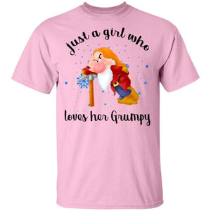 Dwarfs Just A Girl Who Loves Her Grumpy T-Shirt-Bounce Tee
