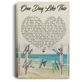 Elbow One Day Like This Lyrics Canvas Poster Music Poster VA06-Bounce Tee