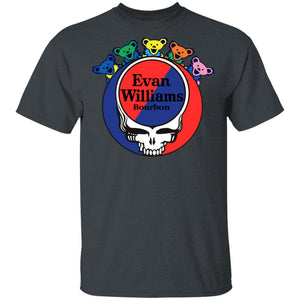 Evan Williams In Grateful Dead Head T-shirt Whisky Tee PT03-Bounce Tee