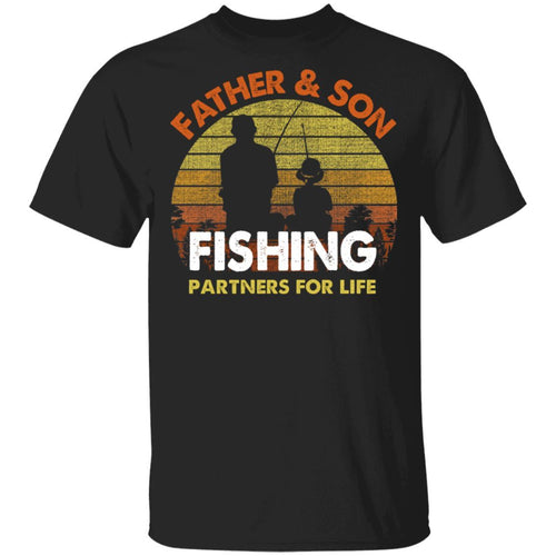Father And Son Fishing Partners For Life T-Shirt Fishing Lover-Bounce Tee