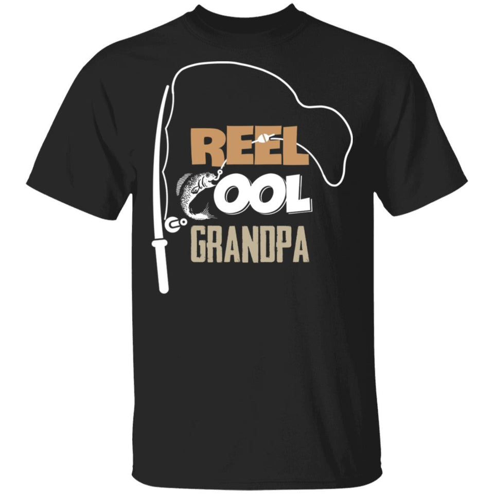 Fishing Real Cool Grandpa T-shirt Funny Fishing Lover-Bounce Tee